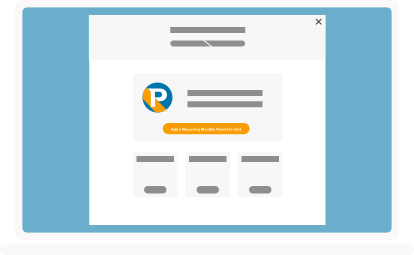 illustration of buy parking page on laptop